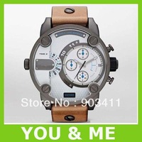 HK post Free shipping men's fashion watch DZ7269 brown leather Wristwatches 7269 +original box