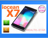 Original iocean X7 quad core MTK6589 andriod 4.2 phones 5 inch FHD 1920x1080 Dual camera 8.0MP dual SIM Slot / Blake