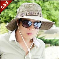 Male summer sunbonnet male fishing cap male beach sun hat cap hiking cap big along the cap bucket hat