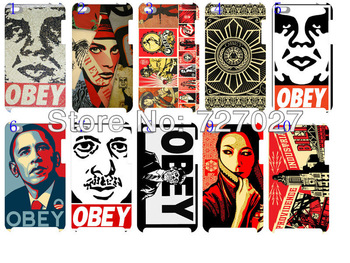 New  wholesale obey hard white case cover for ipod touch4 mp410pcs/lots + free shipping