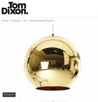 Tom Dixon Bronze Shade dia30cm pendant lamp +Free shipping