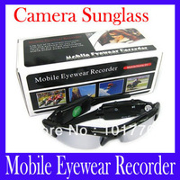 Free shipping Mobile eyewear recorder Sunglasses DVR eyeglasses DV with Hidden Camera Recorder DV68B ,2pcs/lot