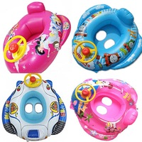 2013 New arrvial free shipping Child seat PVC swim ring baby infant seat armpits ring floating ring belt steering wheel horn