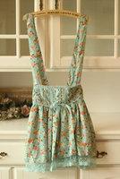 Preppy style cute suspenders high waist lace clothing short skirt sweet vintage vivi