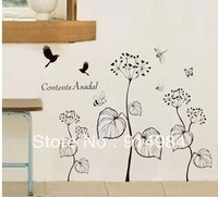 Free shipping parlour bedroom decoration Sofa TV background can remove Wall sticker flower