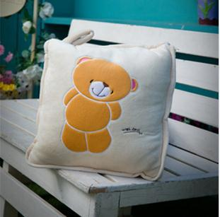 1pcs little tedi bear cartoon lovely bear pillow blanket 1.5m*1m for baby/children/adult cushion creative(China (Mainland))