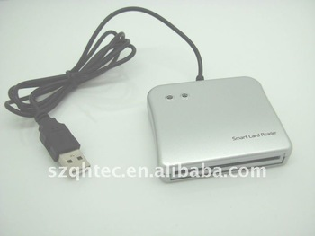 free shipping USB Smart Card Reader, Support the Universal Serial Bus Specification reads both IC/ID card