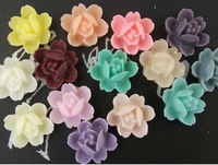 12mm Lotus Resin Cabochon Flatback for Phone Jewelry Accessories, Wholesale 500pcs/lot Phone Ornament Joyas Adorno Accesorios