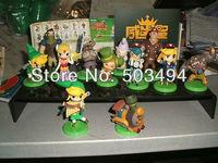 New Furuta Choco Egg The Legend of Zelda Mini Figure Set of 11 loose part Free shipping kid's gift
