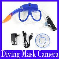 Free shipping (H.264)HD Diving Mask camera ,HD720P Underwater Scuba Mask Camera Built-in 4GB Retail box ,MOQ=1