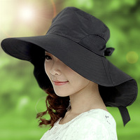 Hat female summer sun hat UV Korean foldable outdoor beach hat large brimmed sun hat
