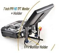 7 inch FPV Monitor HD TFT & FPV Carbon Fiber Holder Set for Futaba Flysky ect.DIY quadcopter Controller unit