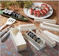 10pcs/set  Japan sushi device sushi mold cake mould tools easy sushi maker kit rice mold making Set not including the kinfe,