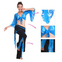 10 colors belly dance costume sexy indian dance belly dance set clothes  lace skirt pants free shipping