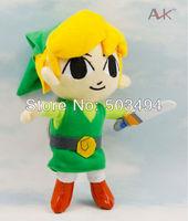 "Free shippig 10pcs/lot  Global Holdings Zelda boy Plush doll 7"" inch 20cm toy"
