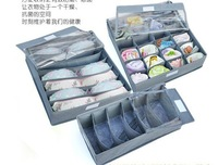 Drop Shipping 3Pcs/Set Large Transparent Non-woven Storage Box Bra Box Shoe Box As See on TV Storage Case Free Shipping