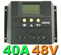 Free shipping by DHL 40A 48V Intelligent solar charge and discharge controller with LCD Display