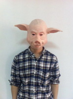 Free shipping pig head Mask for party.natural emulsion