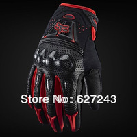 FOX Bomber motocross  Full Finger Outdoor  Men Gloves Breathe freely   Non-slip RED
