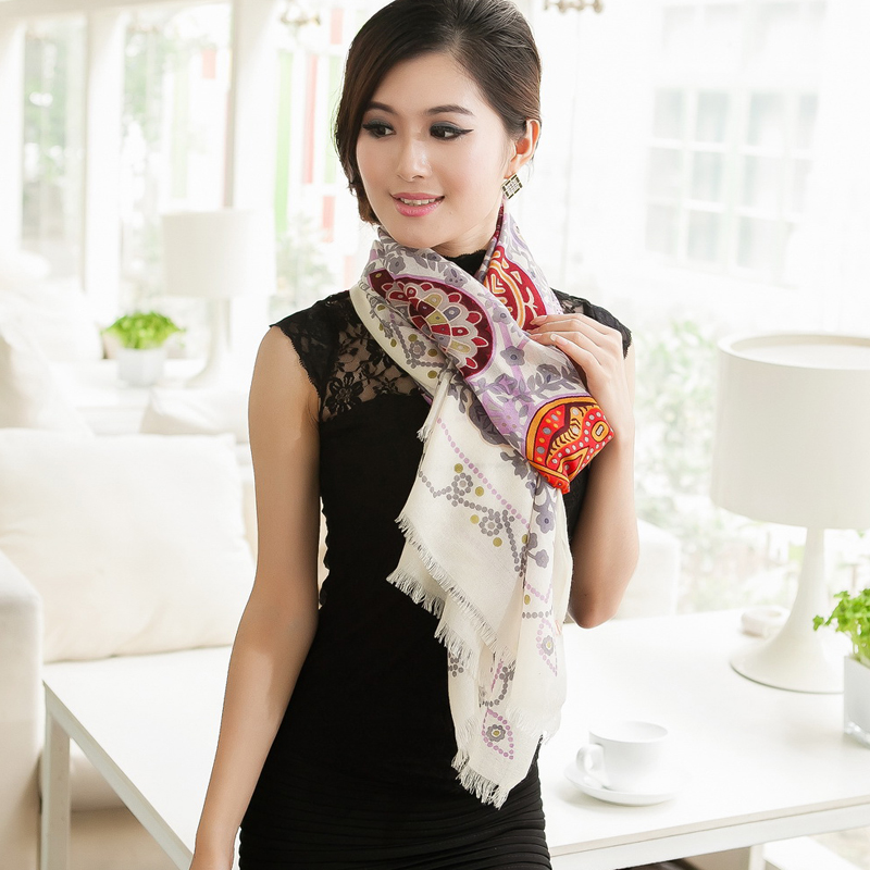 Ultra pure wool long scarf ultralarge female thermal muffler scarf cape dual(China (Mainland))