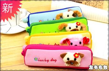 Plush pencil case multifunctional small square pencil case child pencil case animal pencil case