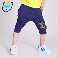 Male child harem shorts pants child male thin child 100% cotton capris trousers
