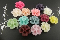 14mm Cherry Resin Flower for Jewelry and Glasses Decoraion Phone Ornament Joyas Adorno Accesorios craft ,Wholesale 500pcs/lot