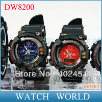 2013 DW8200 HK Free shipping frogman DW - 8200 series double disc hipsters sport electronic watches support mix color (5pcs/lot)