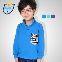 Aiyue sallei children's clothing 2013 male child basic shirt child long-sleeve T-shirt 100% cotton spring
