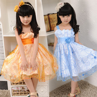Children's clothing summer one-piece dress big boy ploughboys chiffon tulle dress tank dress dancing dress national dance