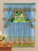 free shipping End of a single print kitchen curtain coffee curtain 5 set
