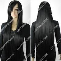 Costume cosplay wig 1 meters black long love yah to themagister akiyama cos campanulaceae black