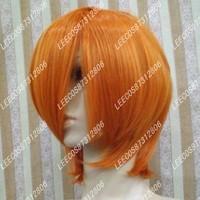 Orange leecos cos wig stubbiness