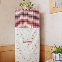 Rustic patchwork plaid nature series vertical air conditioner cover conditioner dust cover cotton cover cloth cover wholesale