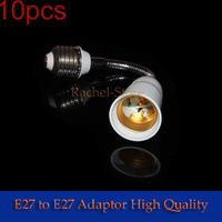 wholesale free shipping 10pcs/lot E27 TO E27 Extend lamp switch Adapter Converter Base holder lamp bases for led light