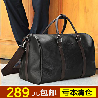 Man bag commercial portable travel bag large capacity male cowhide travel bag shoulder bag luggage(China (Mainland))