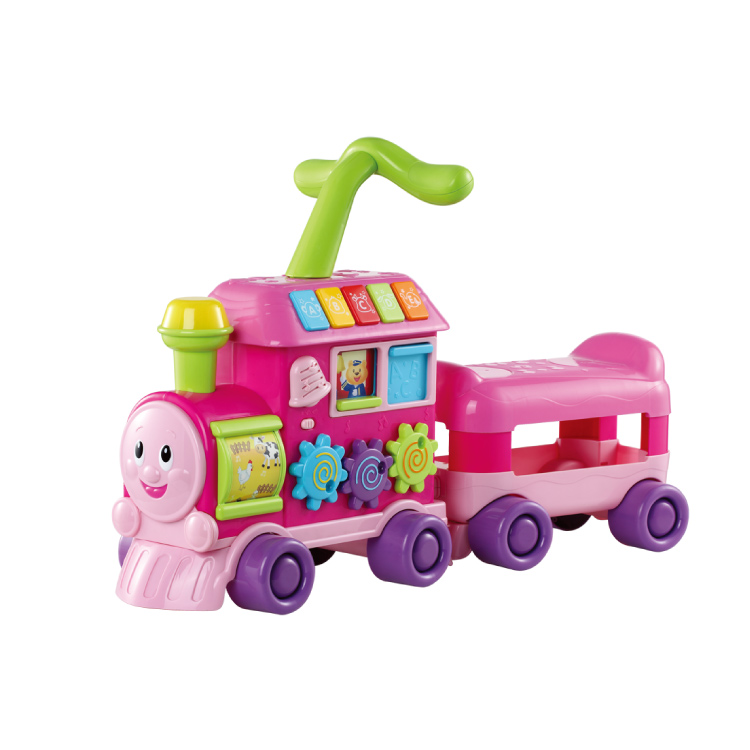 Educational toys baby walker preschool trolley music train 0803(China (Mainland))