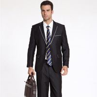 Golden male suit slim suits black 2012 the groom married