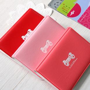 Free Shipping Specials Berserk Korean cute bow card pack Bag Case Bank Badge Holder bag Card book card holder Storage bag BG41