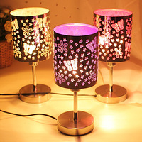 Aesthetic butterfly cutout metal touch table lamp bed-lighting light bulb 35751