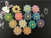18mm 500 pcs/lot lovely Europe Flat Resin flower,resin cabochon,vintage for DIY Flower Phone Accessories wholesale free shipping