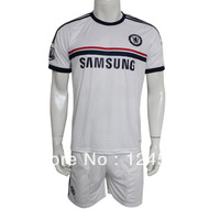Fantastic Customized 13/14 Chelsea Away Champions League Soccer Jersey & Short Kit