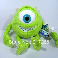 Monsters Inc Mike Wazowski toy 25cm high  Monsters University Mike Wazowskidoll plush toy for children gift Free shipping