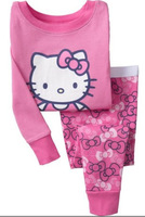 2013  new Sunshine Girl cotton clothing Sets cartoon Hellokitty suit  lovely long sleeves sets  infant sportwear  homewear