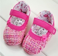 Free Shipping 2012 0-1 year old pink princess shoes baby shoes non-slip shoes