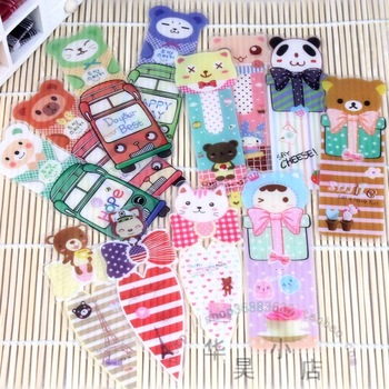 Korea stationery cartoon bookmark plastic bookmark clip prize