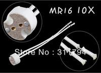 10x MR16 GU10 gu5.3 Base Socket Lamp Holder Ceramic Wire Connector CE&ROHS  free shipping
