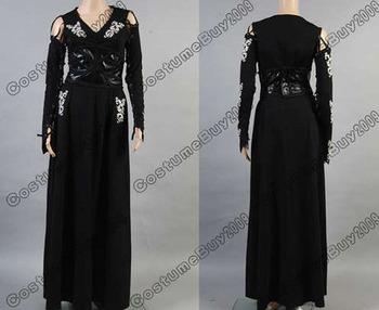 Nueva llegada por encargo de Harry Potter Bellatrix LeStrange negro vestido de Cosplay