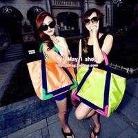 Bag 2013 women's handbag one shoulder handbag casual canvas bag candy color bag neon color bag