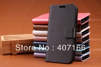 MOQ:100PC Ultra Slim Brushed PU Leather Stand Case Cover For Samsung Galaxy S4 i9500 Free Shipping
